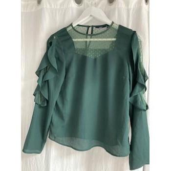 Vêtements Femme Chemises manches longues Sans marque Chemisier Vert