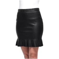 Vêtements Femme Jupes Giorgio Cuirs Jupe Giorgio Valda en cuir ref 52011 Noir Noir
