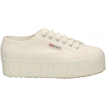 Chaussures Femme Baskets basses Superga 2790 SHINY PINT.PLATFORM 901-white