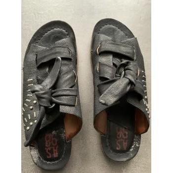 Chaussures Femme Sandales et Nu-pieds Airstep / A.S.98 Nu pieds Airstep/AS98 modèle Ramos Noir