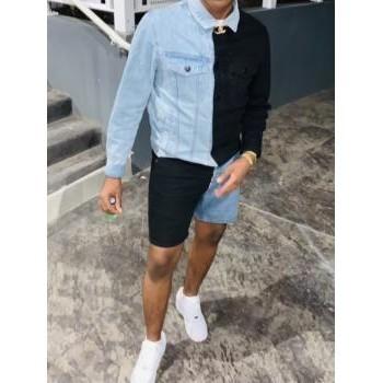 Vêtements Homme Vestes en jean BOSS Ensemble jeans bleu/noir Bleu