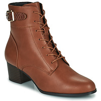 Chaussures Femme Bottines The Divine Factory LH2059 Camel