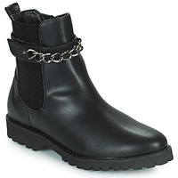 Chaussures Femme Boots The Divine Factory LH2274 Noir