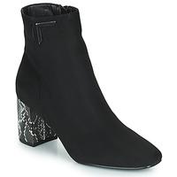Chaussures Femme Bottines The Divine Factory QL4534 Noir / Python