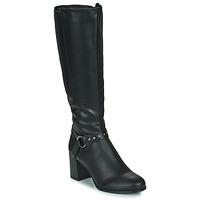 Chaussures Femme Bottes ville The Divine Factory LH2080D Noir