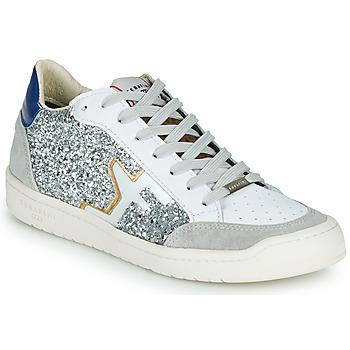 Chaussures Femme Baskets basses Serafini SAN DIEGO Argenté / Blanc