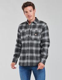 Vêtements Homme Chemises manches longues Dickies EVANSVILLE LS Noir