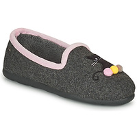Chaussures Femme Chaussons Isotoner 97311 Gris / Rose