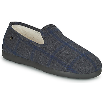 Chaussures Homme Chaussons Isotoner 98038 Gris / Bleu