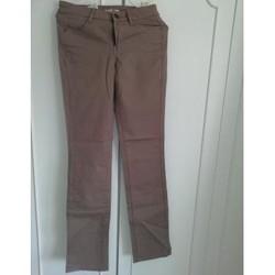 Vêtements Femme Pantalons 5 poches Camaieu Pantalon droite Beige