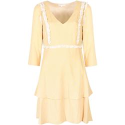 Vêtements Femme Robes courtes Patrizia Pepe  Jaune