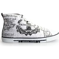 Chaussures Homme Baskets montantes Trussardi  Blanc