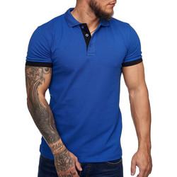 Vêtements Homme Polos manches courtes Monsieurmode Polo fashion pour homme Polo 1402 bleu roi Bleu