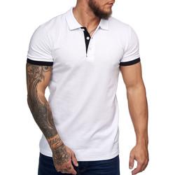 Vêtements Homme Polos manches courtes Monsieurmode Polo tendance pour homme Polo 1402 blanc Blanc