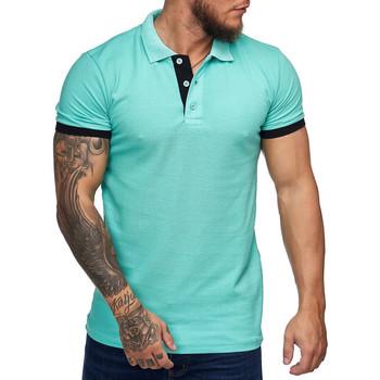 Vêtements Homme Polos manches courtes Monsieurmode Polo homme fashion Polo 1402 vert menthe Vert