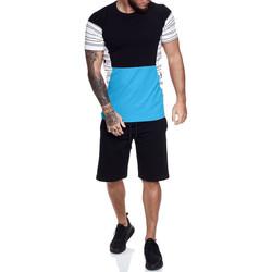 Vêtements Homme Ensembles de survêtement Monsieurmode Ensemble t-shirt, short homme Ensemble 1461 noir Noir