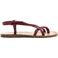 Chaussures Femme Sandales et Nu-pieds Gianluca - L'artigiano Del Cuoio 537-ROSSO-FT ROSSO
