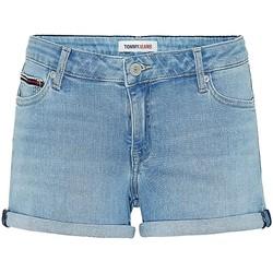 Vêtements Femme Shorts / Bermudas Tommy Jeans Short en jean  ref 52938 Denim extensible Bleu