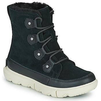 Chaussures Femme Boots Sorel SOREL EXPLORER II JOAN FAUX FUR Noir
