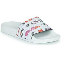 Chaussures Femme Claquettes adidas Originals ADILETTE W Blanc / Fleurs
