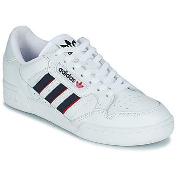 Chaussures Baskets basses adidas Originals CONTINENTAL 80 STRI Blanc / Bleu / Rouge