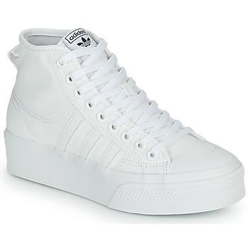 Chaussures Femme Baskets montantes adidas Originals NIZZA PLATFORM MID Blanc