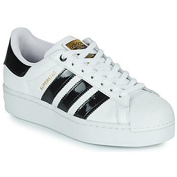 Chaussures Femme Baskets basses adidas Originals SUPERSTAR BOLD W Blanc / Noir Vernis