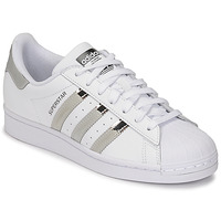 Chaussures Femme Baskets basses adidas Originals SUPERSTAR W Blanc / Argent
