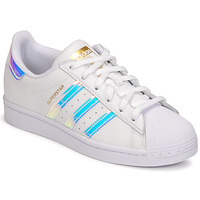 Chaussures Femme Baskets basses adidas Originals SUPERSTAR W Blanc / Iridescent