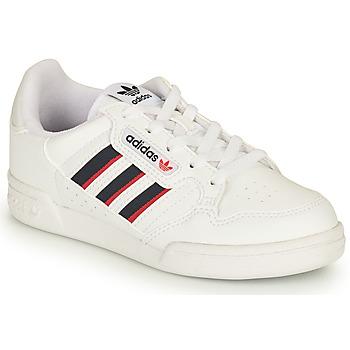 Chaussures Enfant Baskets basses adidas Originals CONTINENTAL 80 STRI C Blanc / Bleu