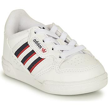 Chaussures Enfant Baskets basses adidas Originals CONTINENTAL 80 STRI I Blanc / Bleu
