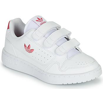 Chaussures Fille Baskets basses adidas Originals NY 90  CF C Blanc / Rose