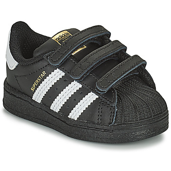 Chaussures Enfant Baskets basses adidas Originals SUPERSTAR CF I Noir / Blanc