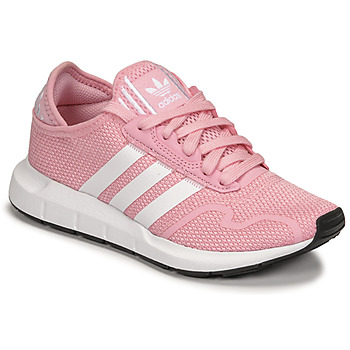 Chaussures Fille Baskets basses adidas Originals SWIFT RUN X J Rose / Blanc