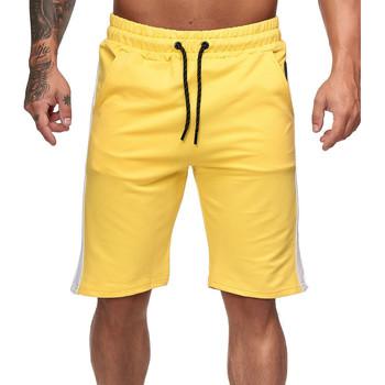 Vêtements Homme Shorts / Bermudas Monsieurmode Short fashion pour homme Short 1400 jaune Jaune