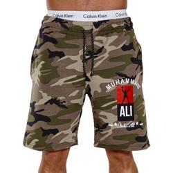 Vêtements Homme Shorts / Bermudas Monsieurmode Short homme camouflage Short 3726 vert Vert
