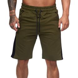 Vêtements Homme Shorts / Bermudas Monsieurmode Short fashion homme Short 1400 vert kaki Vert