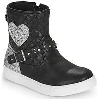 Chaussures Fille Boots Primigi B&G LUX Noir / Argenté