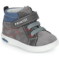 Chaussures Garçon Baskets montantes Primigi BABY LIKE Gris / Bleu