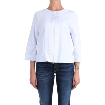 Vêtements Femme Sweats Anna Seravalli S1125 Avec zip Femme blanc blanc