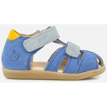 Chaussures Garçon Sandales et Nu-pieds Shoo Pom PIKA SCRATCH NUBUCK MONZA bleu