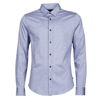 Vêtements Homme Chemises manches longues Scotch & Soda CLASSIC SLIM FIT KNITTED Bleu