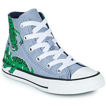 Chaussures Enfant Baskets montantes Converse CHUCK TAYLOR ALL STAR DINO DAZE HI Bleu / Vert