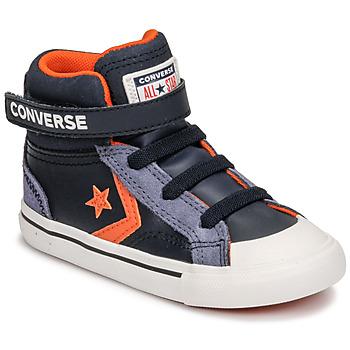 Chaussures Enfant Baskets montantes Converse PRO BLAZE STRAP LEATHER TWIST HI Bleu