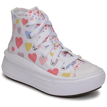 Chaussures Fille Baskets montantes Converse CHUCK TAYLOR ALL STAR MOVE ALWAYS ON HEARTS HI Blanc / Multicolore