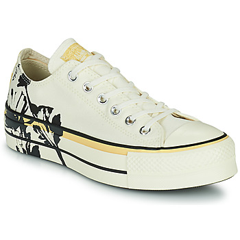 Chaussures Femme Baskets basses Converse CHUCK TAYLOR ALL STAR LIFT HYBRID FLORAL OX Blanc