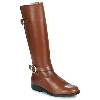 Chaussures Fille Bottes ville Acebo's 9904-CUERO-T Marron