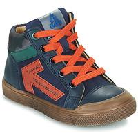 Chaussures Garçon Baskets montantes Acebo's 5567-MARINO-I Marine