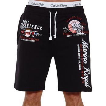 Vêtements Homme Shorts / Bermudas Monsieurmode Short Royal Marine homme Short 3728 noir Noir