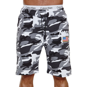 Vêtements Homme Shorts / Bermudas Monsieurmode Short camouflage homme Short Nasa CA3711 blanc Blanc